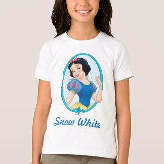 雪の白フレーム Tシャツ
