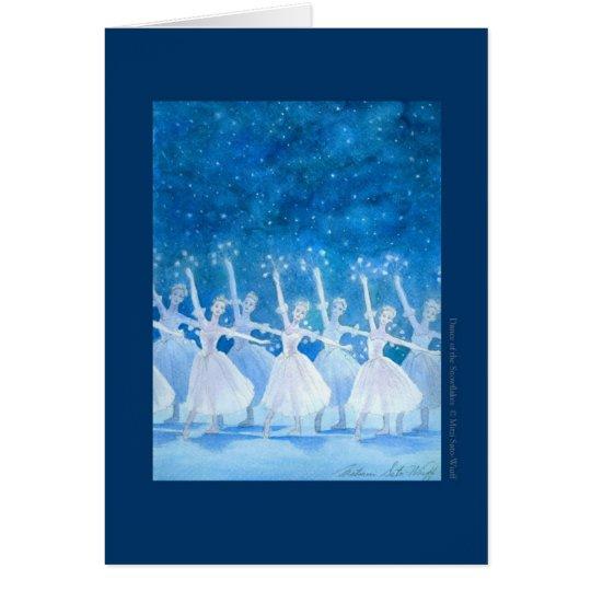 雪の精の踊り バレエグリーティングカード カード