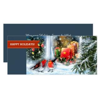 雪の背景画のクリスマスの挨拶状 カード