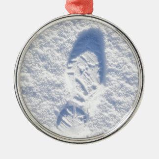 雪の背景 メタルオーナメント