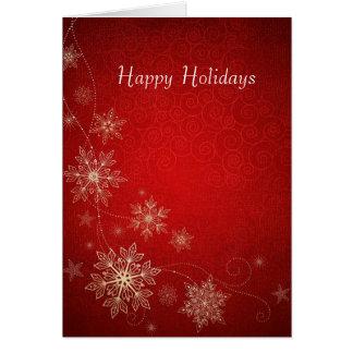雪の薄片との幸せな休日 カード