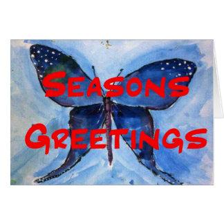 雪の蝶 カード