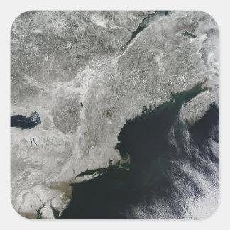雪の衛星眺め スクエアシール