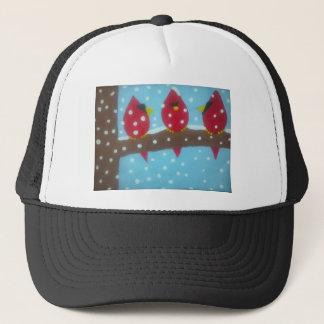 雪の赤い(鳥)ショウジョウコウカンチョウ キャップ