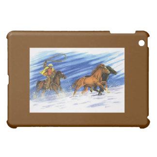 雪の追跡 iPad MINI カバー