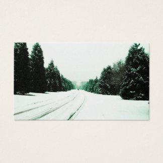 雪の道 名刺