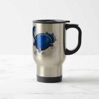 雪の青猫 トラベルマグ