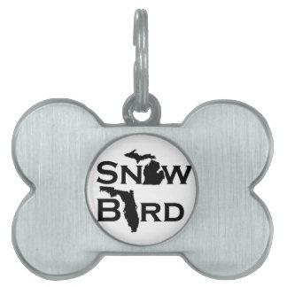 雪の鳥 ペットネームタグ