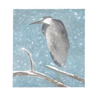 雪の鷲 ノートパッド