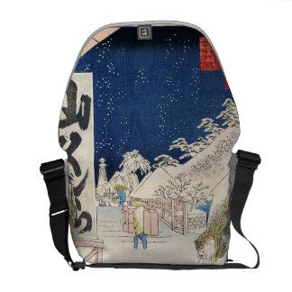 雪のBikuni橋 メッセンジャーバッグ