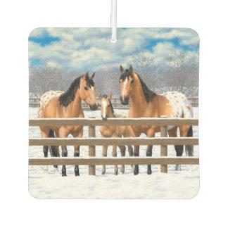 雪のBuckskinのAppaloosaの馬 カーエアーフレッシュナー