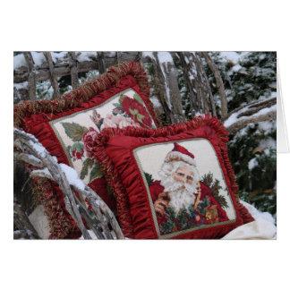 雪のChrismasの枕 カード