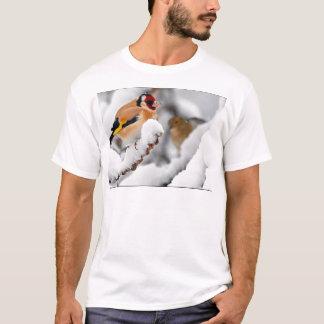 雪のGoldfinch Tシャツ