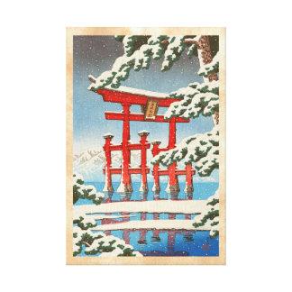 雪のHasui Kawaseの向こうずねのhangaの芸術の宮島 キャンバスプリント