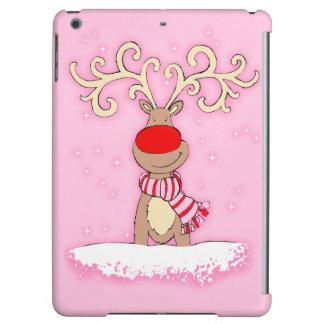 雪のipadのピンクのクリスマス