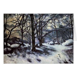 雪を溶かすポールセザンヌ。 Fontainbleau カード