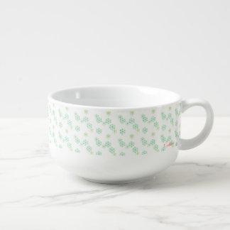 雪パターンスープマグ スープカップ