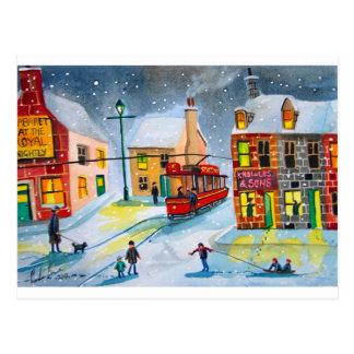 雪場面市街電車の通り場面ゴードンブルース ポストカード