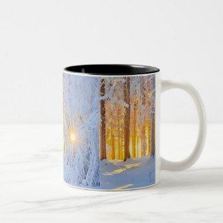 雪場面 ツートーンマグカップ