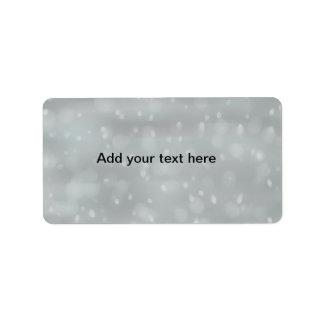 雪場面customizeableラベル 宛名ラベル