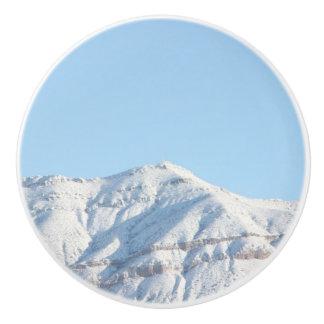 雪山の陶磁器のノブ セラミックノブ