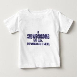 雪搭乗あ簡単 ベビーTシャツ