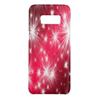 雪片およびポインセチアが付いている赤いクリスマスの星 Case-Mate SAMSUNG GALAXY S8ケース