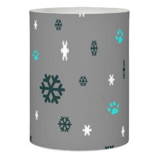 雪片および足のプリント LEDキャンドル