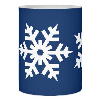 雪片が付いている冷ややかな青 LEDキャンドル