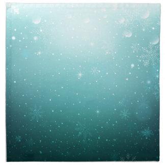 雪片が付いている暖かい冬の不思議の国 ナプキンクロス