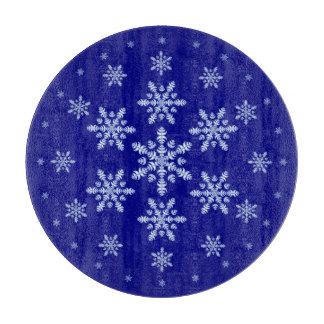 雪片のまな板が付いている濃紺 カッティングボード