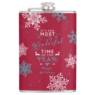 雪片のクリスマスのクリスマスほとんどのすばらしい時間2 フラスク