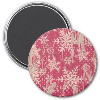 雪片のクリスマスの休日の素朴な磁石 マグネット