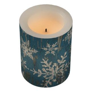 雪片のクリスマスの休日素朴なLEDの蝋燭 LEDキャンドル