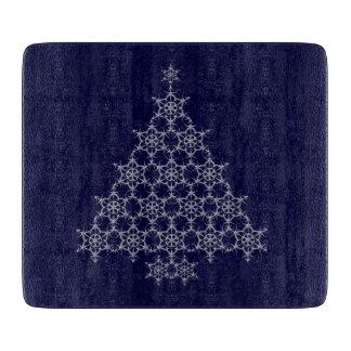 雪片のクリスマスツリーのまな板 カッティングボード