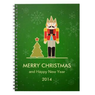雪片のクリスマス-くるみ割りの休日の挨拶 ノートブック