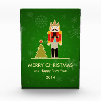 雪片のクリスマス-くるみ割りの休日の挨拶 表彰盾