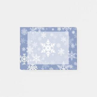 雪片のグラフィックはaの色の背景をカスタマイズ ポストイット