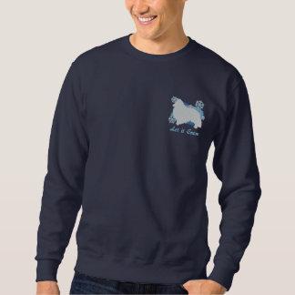 雪片のシェットランド・シープドッグによって刺繍されるワイシャツ(スエットシャツ) 刺繍入りスウェットシャツ