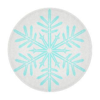 雪片のデザインのまな板 カッティングボード