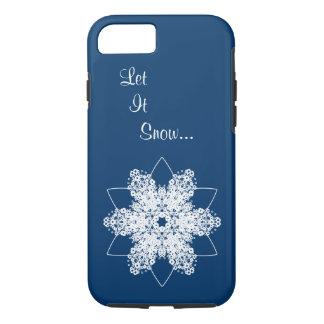 雪片のデザイン7 iPhone 8/7ケース