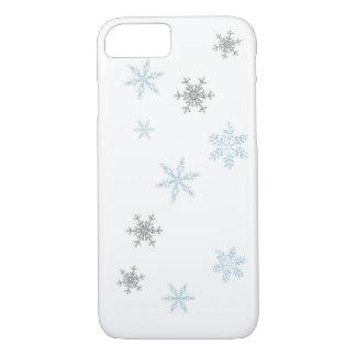 雪片のデザイン iPhone 8/7ケース