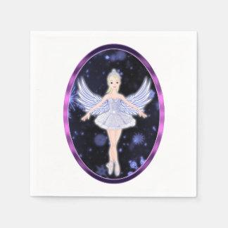 雪片のバレリーナの妖精 スタンダードカクテルナプキン