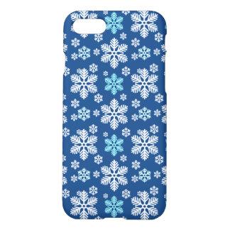 雪片のパターン(の模様が)あるな青 iPhone 8/7 ケース