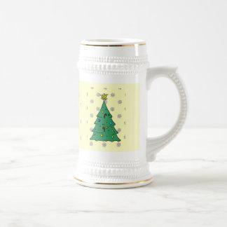 雪片のパターン、クリスマスツリー ビールジョッキ