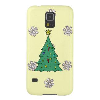 雪片のパターン、クリスマスツリー GALAXY S5 ケース