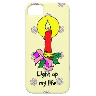 雪片のパターン、蝋燭ライト iPhone SE/5/5s ケース