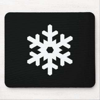 雪片のピクトグラムのマウスパッド マウスパッド