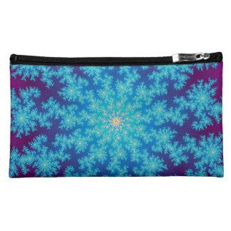雪片のフラクタルの水の青 コスメティックバッグ