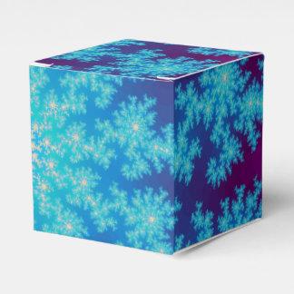 雪片のフラクタルの水の青 フェイバーボックス